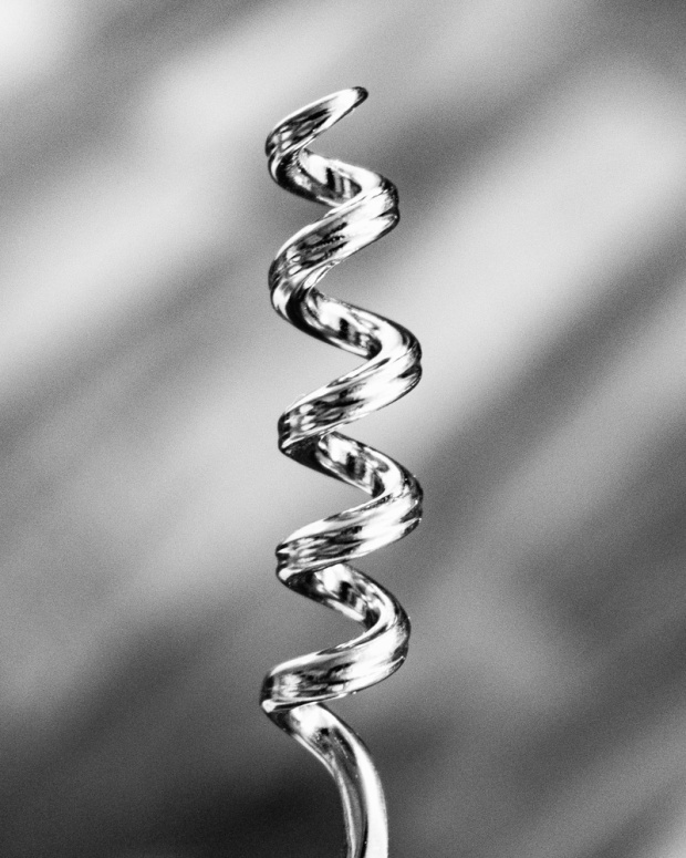 Food Photography Portfolio at ildiva.com - Corkscrew close-up in black and white