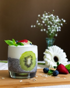 Food Photography Portfolio at ildiva.com - Chia Pudding Breakfast Cup